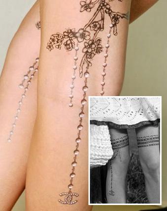 chanel tattoo stylejunge. Black Bedroom Furniture Sets. Home Design Ideas